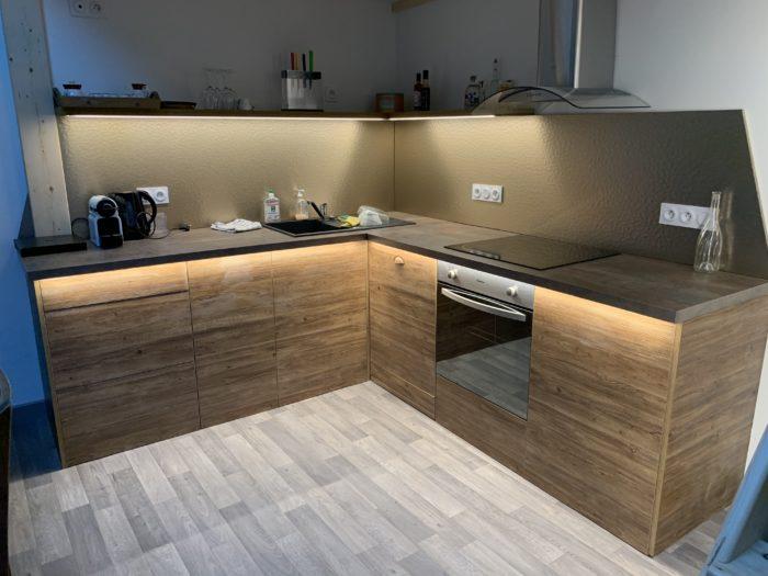 Conception, réalisation et installation d'une cuisine équipée à Allevard